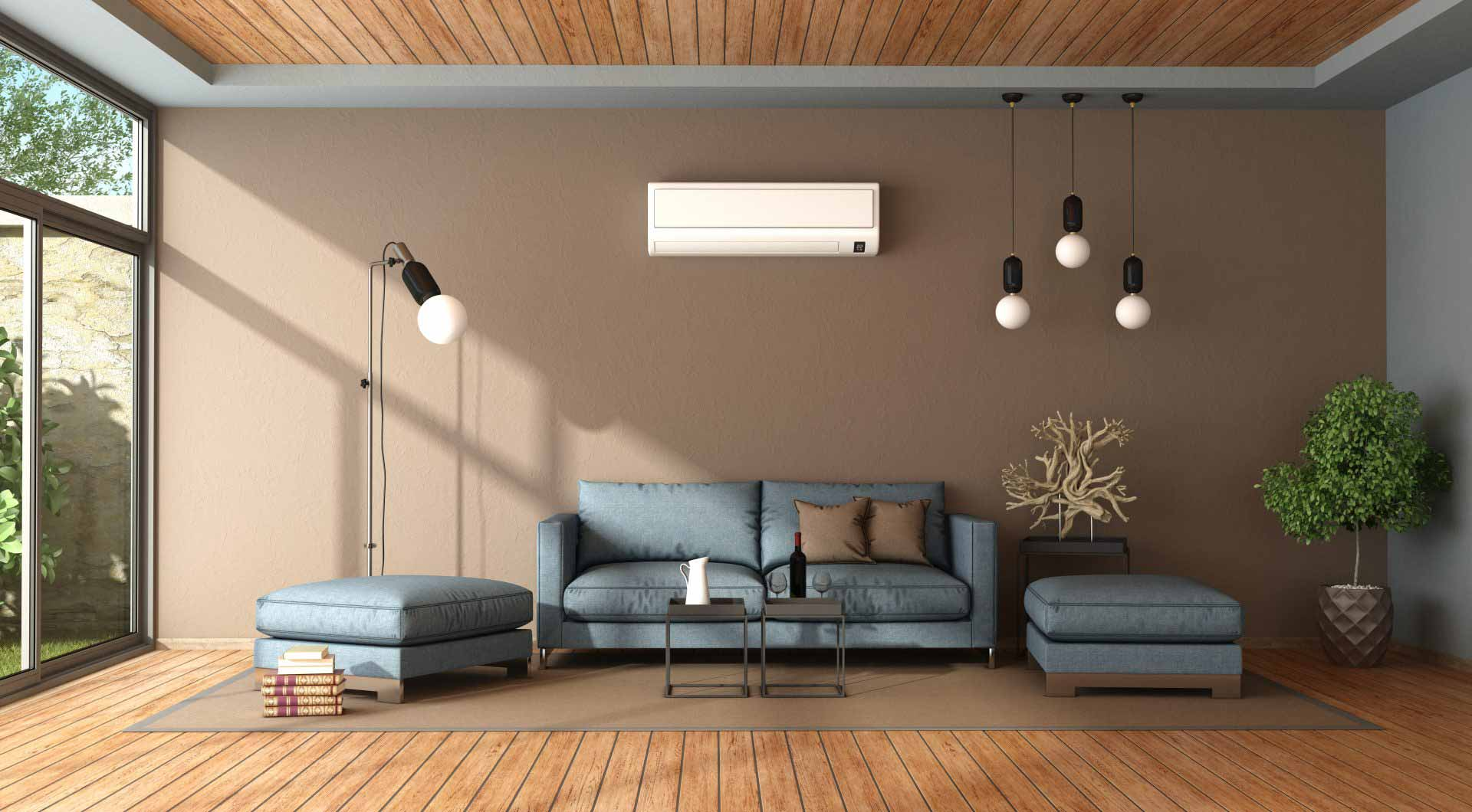 blue-and-brown-living-room-with-air-conditioner-P9XZDRD-e1574417919785